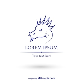 Dragon logo template vector