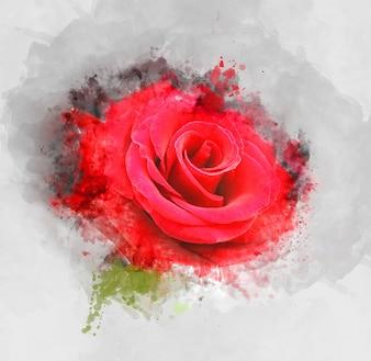 Рисование цветок