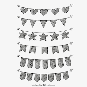 Drawn bunting collection
