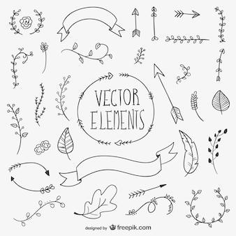 Drawn vector elements