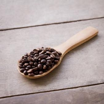 Drink coffee bean arabica black wood