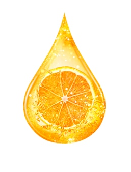 Drop of citrus serum