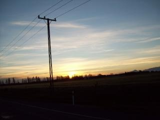 Dusk - canterbury Plains and hills
