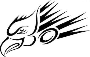 Eagle head flying