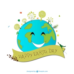 Earth Day cartoon vector