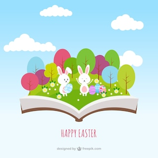 Easter book in pop up style
