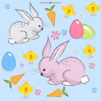 Easter bunny layout