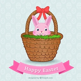 Easter bunny on a basket
