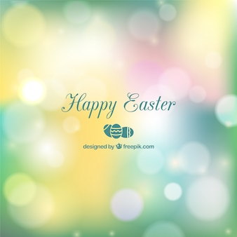 Easter card in bokeh style