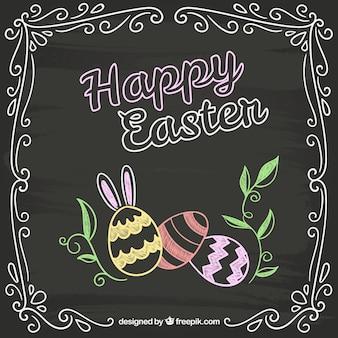 Easter card in chalkboard style