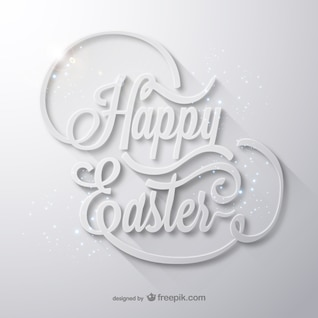 Easter card in typographical style