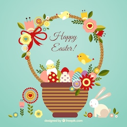 Easter card with a cute basket