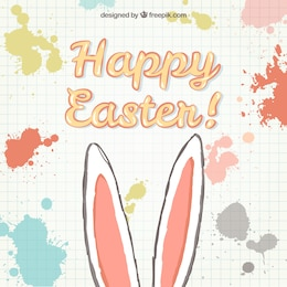 Easter card with bunny ears