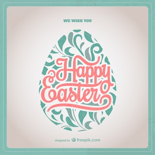 Easter card with ornamental egg