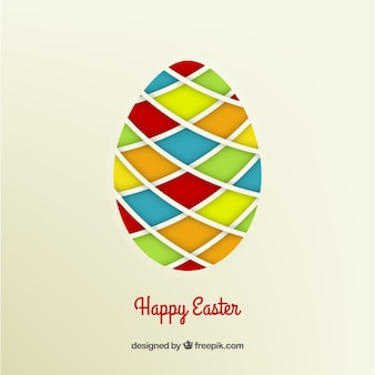 Easter egg with colorful rhombus