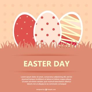 Easter eggs postcard