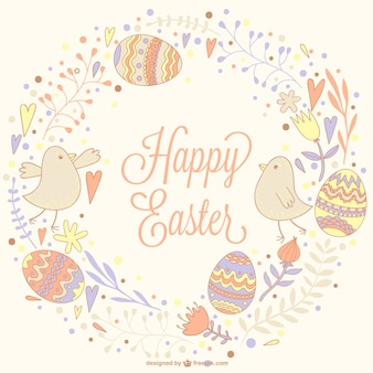 Easter hand drawn illustration