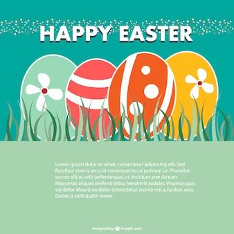 Easter hunt card design