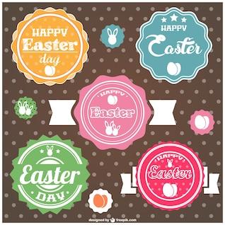 Easter labels design