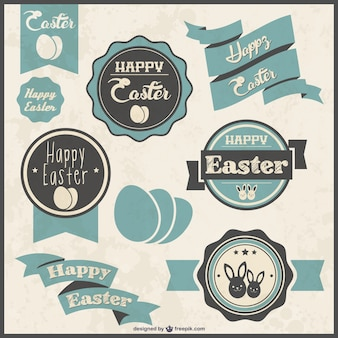 Easter labels set