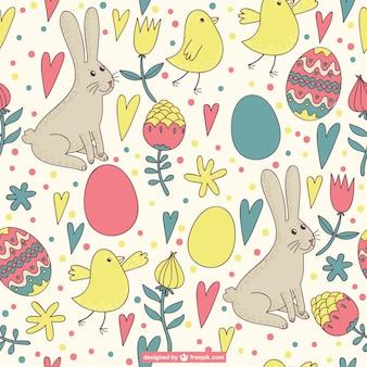 Easter pattern retro design