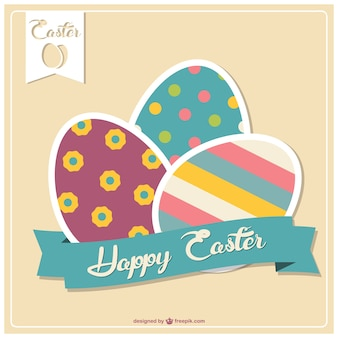 Easter vector graphic template
