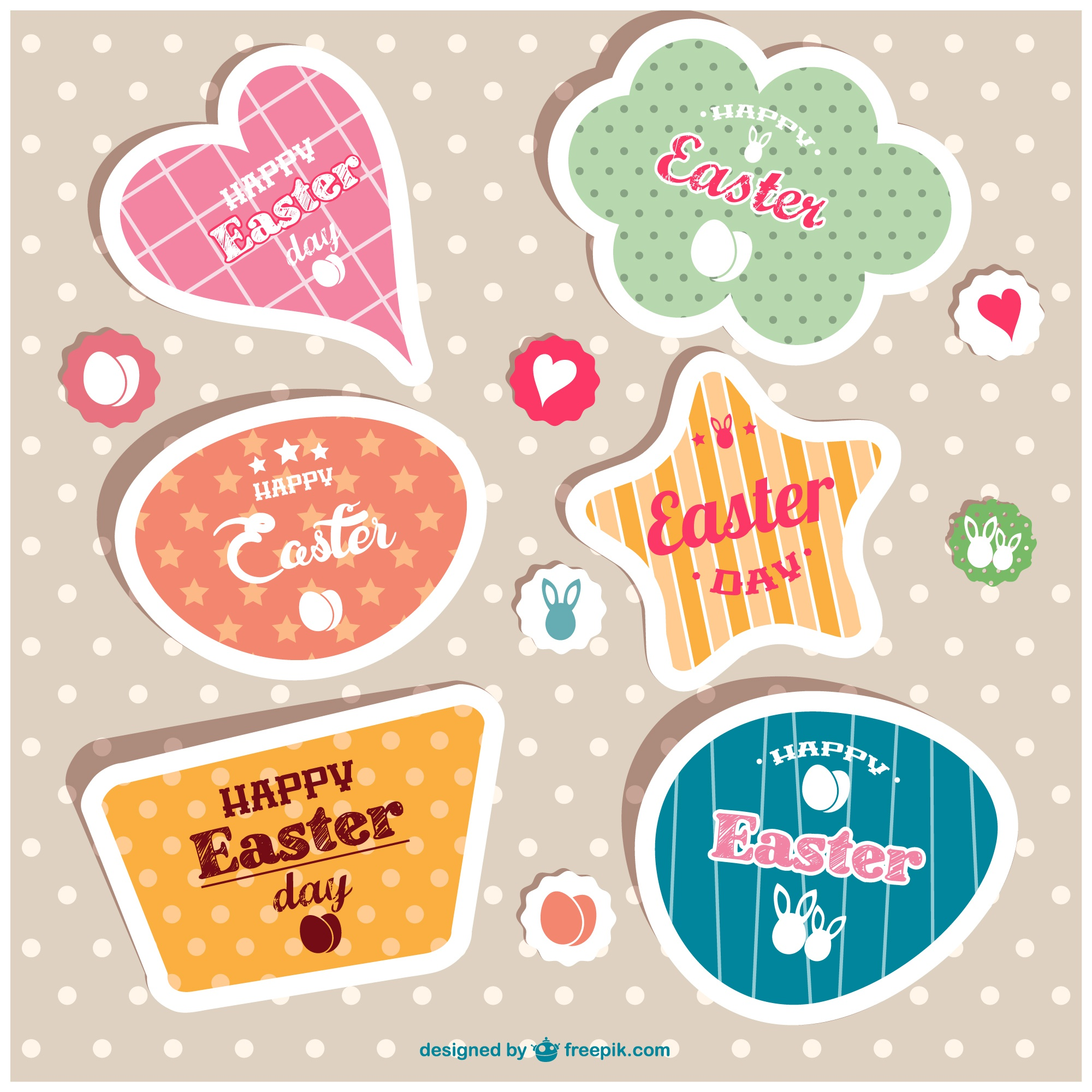 Easter vector labels