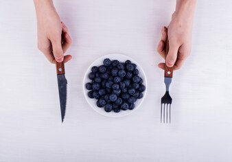 Eating some blueberries