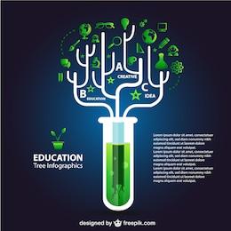 Eco education infographics