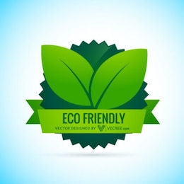 Eco Friendly Label with banner