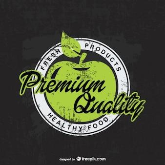 Eco organic apple badge