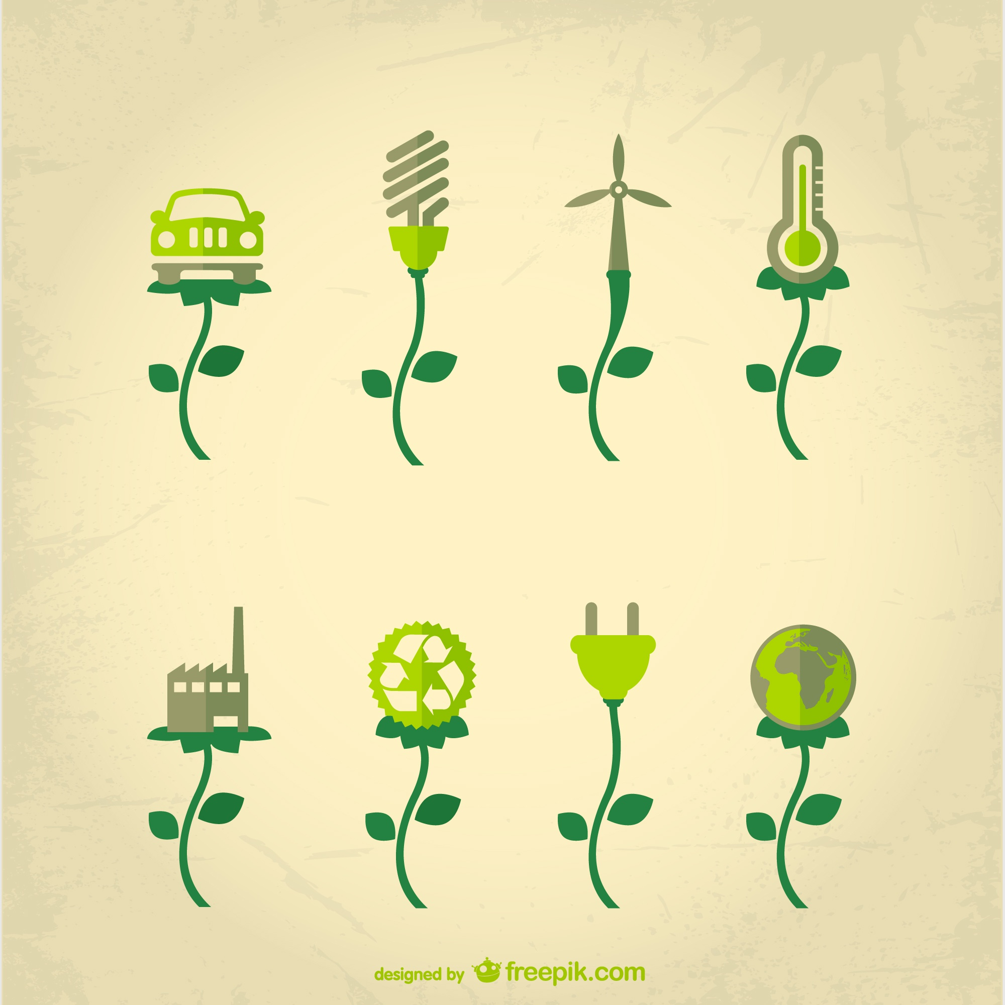 Ecological industry concept vector