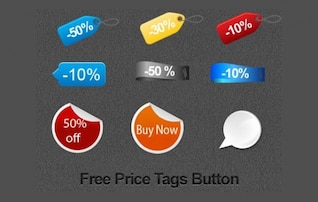 ecommerce sales tags set psd png