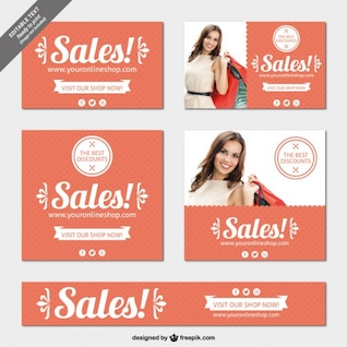 Editable sales banners pack
