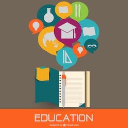 Education flat style illustration