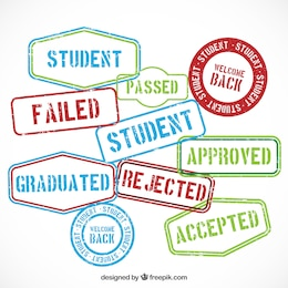 Education rubber stamp messages