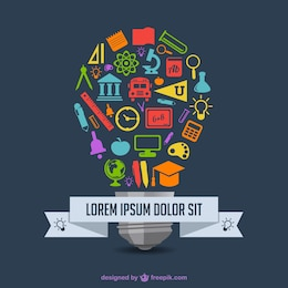Education vector infography