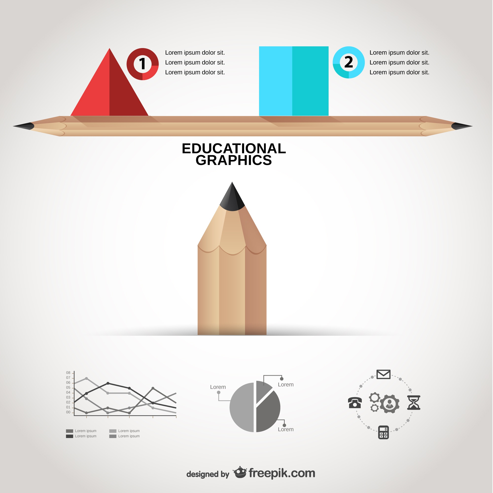 Educational graphics template