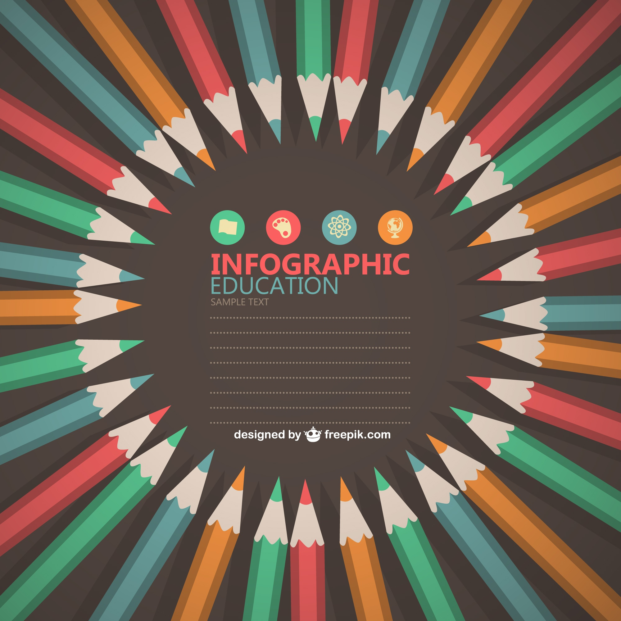 Educational infographic free design