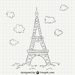 Eiffel tower drawing