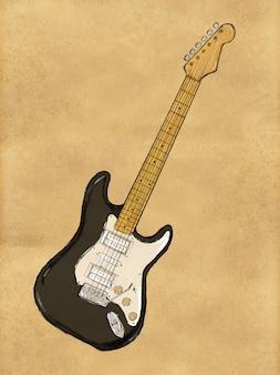 紙にエレクトリックギターペインティング