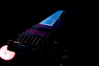 Electric guitar with light