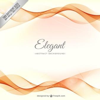 Elegant background with orange waves