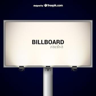 Elegant billboard with spotlights