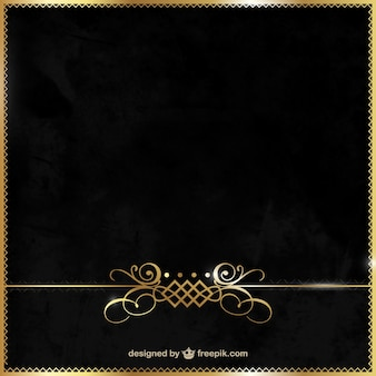 Elegant black and gold background