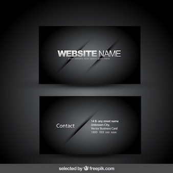 Elegant black business card