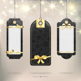 Elegant Christmas gift labels