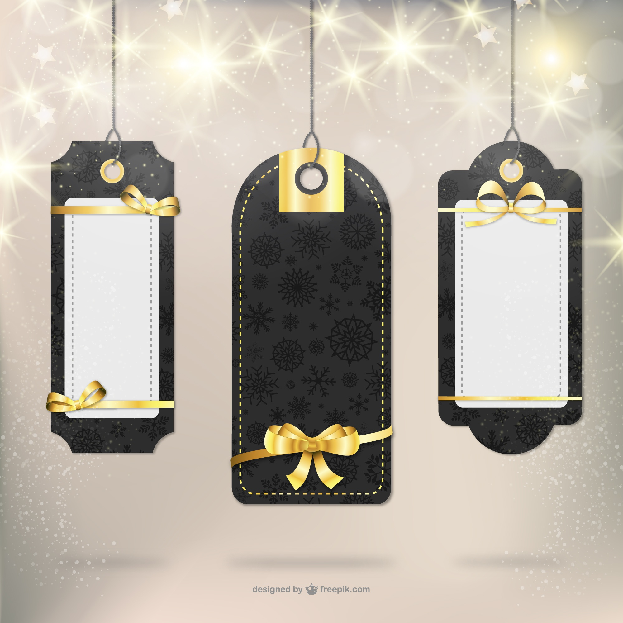Elegant Christmas gift labels