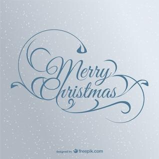 Elegant Christmas lettering vector
