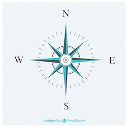 Elegant compass vector